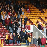 'Well fans troop from the Cooper Stand after the call off