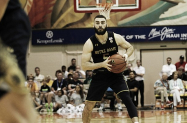Matt Farrell handles the ball for Notre Dame during their quarterfinal in Maui/Photo: Notre Dame athletics website