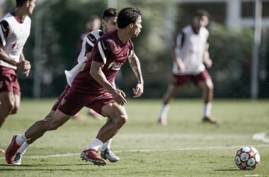 Entrenamiento previo al partido de Champions | Foto: Sevilla FC