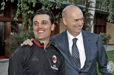 Montella e Fassone, acmilan.com