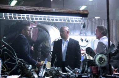 Paul Walker, Vin Diesel y Kurt Russel en el rodaje de 'Fast & Furious 7'. (Foto:collider.com).