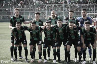 San Martín se enfrenta a un rival muy duro cerrando la fecha con el objetivo de volver con los tres puntos<div>Foto: @CASanMartinSJ</div>