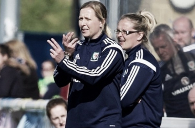 Ludlow and assistant-coach Kelly Chambers.   Credit: @FAW
