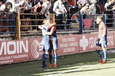 Celebración de un gol contra el Córdoba // Imagen: Extremadura UD