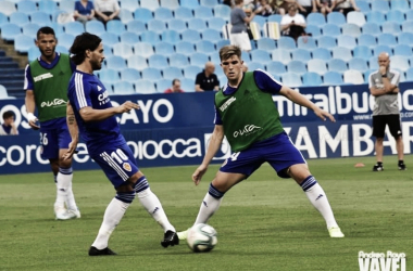El Real Zaragoza es el equipo de Segunda que más remates promedia por partido. Imagen: Andrea Royo