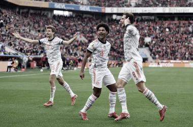 Euforia de los chicos del Bayern de Múnich tras ganar el encuentro / Fuente: Bayern de Múnich