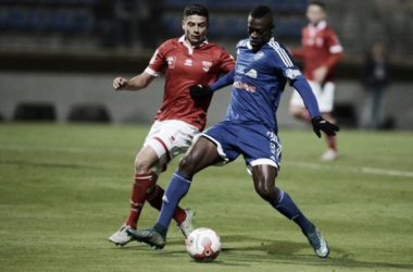 Un jour en Ligue 2, épisode 11. Pape Sané et son équipe de nouveau en forme offensivement face à Nîmes. Photo lfp.fr