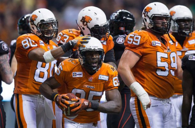 It was a celebratory night for the B.C Lions as they win big 41-3 (The Canadian Press)