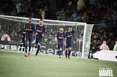 El FC Barcelona en el Camp Nou ante el Sevilla FC. Foto: Noelia Déniz, VAVEL