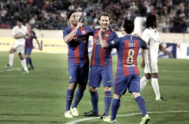 El Barça se queda con el Clásico de leyendas