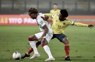 Juan Guillermo Cuadrado, el mejor de Colombia ante Perú