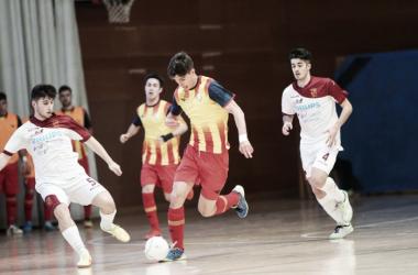 Imagen de la final entre Cataluña y Murcia. | Foto: Federación Catalana de Fútbol