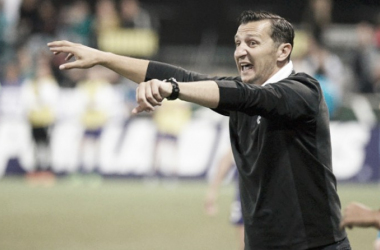 Vlatko Andonovski during the 2015 NWSL Championship game. ( Source: Steve Dykes)