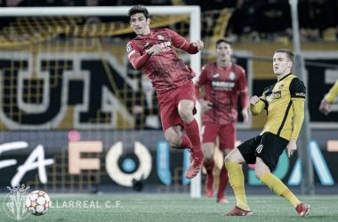 Gerard Moreno en la victoria contra el Young Boys | Imagen: @VillarrealCF