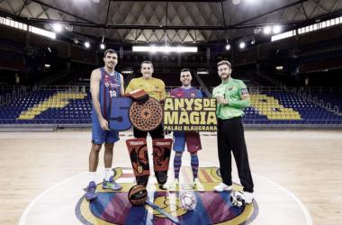 Los cuatro capitanes de las secciones del FCBARCELONA