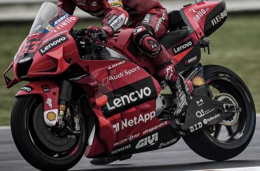 Pecco Bagnaia durante la Q2 /Fuente: Ducati Corse