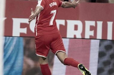 Cristhian Stuani, calidad por encima de la Segunda División