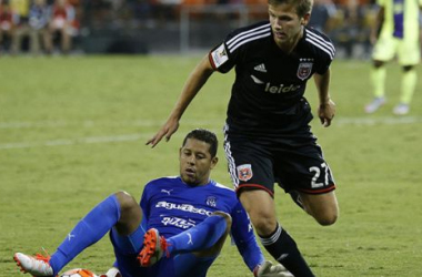 DC United win group H and qualify to the next round by defeating Club Deportivo Arabe Unido on Tuesday at RFK Stadium,. (Photo provided by Linda Cuttone- Sports Vue Images.)