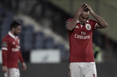 A pesar de marcar el gol definitivo, Jonás se lamentaba por el penalti fallado la pasada jornada | Foto: SL Benfica
