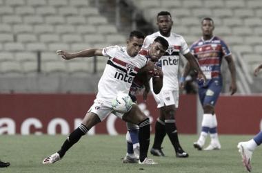 Fortaleza segura empate com São Paulo na Copa do Brasil mesmo com dois a menos