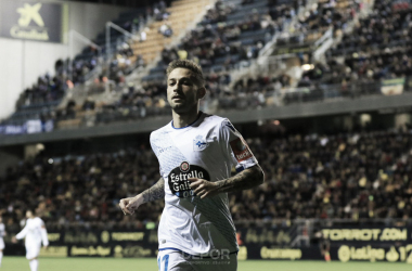 Fede Cartabia en el césped del Carranza | Fotografía por R.C. Deportivo de la Coruña
