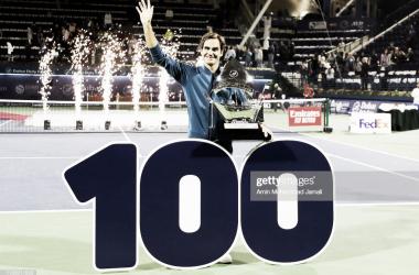 Roger Federer ha ganado el título número cien de su carrera en Dubai. Foto: Getty Images.