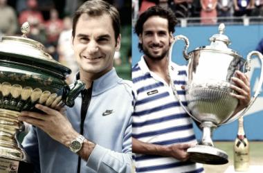 Federer y López intentarán defender lo hecho el año pasado en Halle y Queens respectivamente.   Foto: Montaje Vavel.