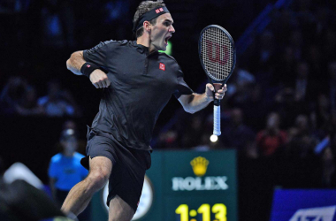 Federer celebrates after a masterful performance/Photo: Peter Staples