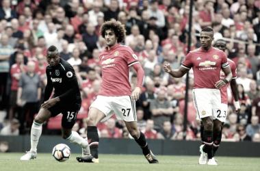 Fellaini con la maglia dei Red Devils - Fonte foto: Manchester United Twitter