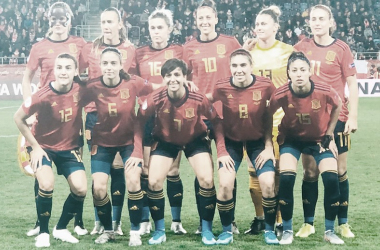 El once inicial de España / FOTO: @SeFutbolFem