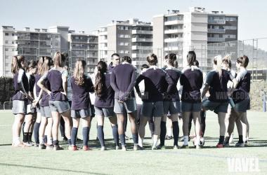Imagen de archivo de jugadoras y cuerpo técnicos del Barça Femenino. FOTO: Noelia Déniz