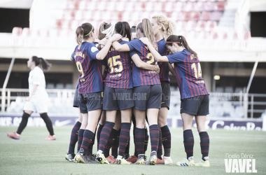 Imagen del femenino del FC Barcelona. FOTO: Noelia Déniz