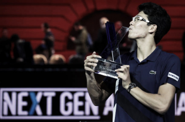 Hyeon Chung fue el primer tenista en ganar las Next Gen ATP Finals el pasado año. Foto: ATP World Tour.