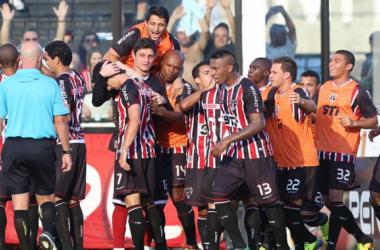 Luís Fabiano e Ganso comemoram resultado positivo, mas pedem atenção