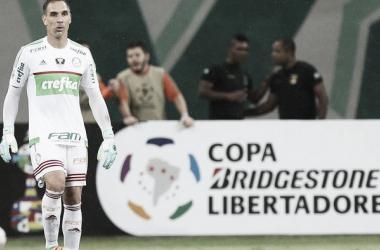 Fernando Prass defendeu um pênalti no momento decisivo da partida (Foto: Divulgação/Palmeiras)