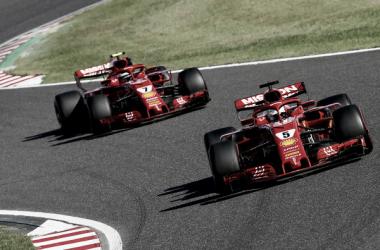 Ambos Ferrari en el Gran Premio de Japón | Fuente: Getty Images