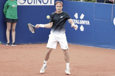 David Ferrer durante su partido ante Rafa Nadal la semana pasada en el Conde de Godó. Foto: gettyimages.es