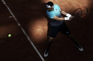 David Ferrer durante un partido en el Masters 1000 de Roma. Foto: zimbio.com