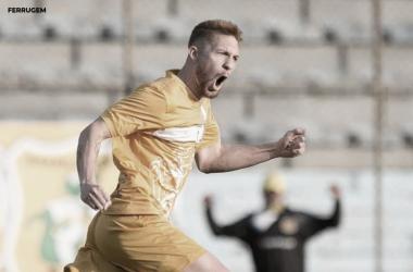 Ferrugem comemora gol marcado em vitória do Brasiliense e projeta decisão contra Goianésia