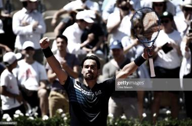 Fognini celebra su victoria. Foto: Getty Images.
