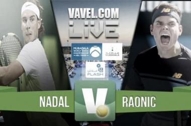 Resumen Rafael Nadal 2-1 Milos Raonic en Mubadala World Tennis Championship 2016