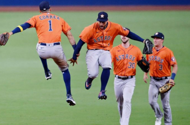 American league Championship Series: Astros take Game 6 over Rays behind Springer, Valdez