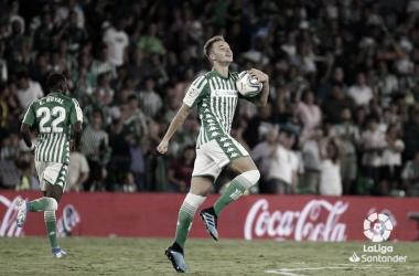 Loren celebrando su gol frente al Leganés | Fotografía: La Liga
