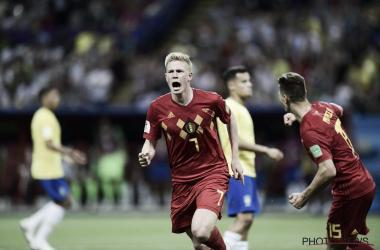 Meio-campista foi eleito o melhor em campo no confronto (Foto: Divulgação/Royal Belgian Football Association)