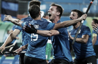 Los Leones festejan el triunfo ante Irlanda   Foto: web