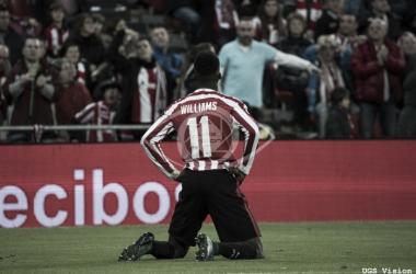 Iñaki Williams celebrando un gol. | Foto: Web UGS Vision.