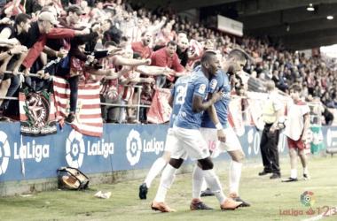 Fídel celebra el gol de la permanencia | LaLiga 1|2|3