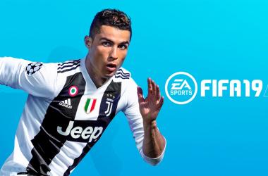 Imagen de Cristiano Ronaldo promocionando el videojuego FIFA 19