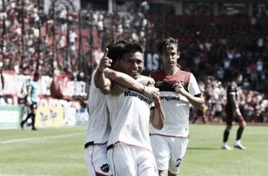 Festejo de gol para Figueroa tras el penal convertido. Foto: Prensa CANOB