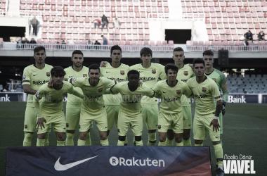 El 11 titular del Barça B ante el Teruel / Foto: Noelia Déniz (VAVEL.com)